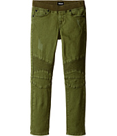 Hudson Kids - Skinny Moto with Light Destruction Jeans in Olivine (Toddler/Little Kids)