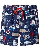 Hatley Kids - Vintage Nautical Swim Trunks (Toddler/Little Kids/Big Kids)