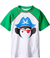 Appaman Kids - Short Sleeve Pirate Rashguard w/ SPF 50 Cover-Up (Toddler/Little Kids/Big Kids)