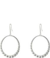Steve Madden - 40mm Beaded Design Hoop Earrings