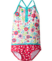 Hatley Kids - Wallpaper Flowers Color Block Swimsuit (Toddler/Little Kids/Big Kids)