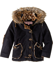 Urban Republic Kids - Hooded Ultra Suede Faux Shearling Jacket (Infant/Toddler)