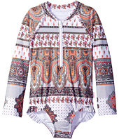Seafolly Kids - Moroccan Paisley Long Sleeve Surf Tank One-Piece (Infant/Toddler/Little Kids)