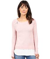 Ivanka Trump - Zipper Sweater with Cotton Shirt