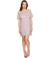 Brigitte Bailey - Finley Off the Shoulder Raw-Edge Striped Dress