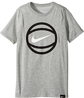 Nike Kids - Short Sleeve Ball Logo Dry Tee (Little Kids/Big Kids)