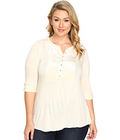 Lucky Brand - Plus Size Burnout Velvet Bib Top