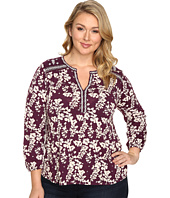Lucky Brand - Plus Size Mixed Peasant Top