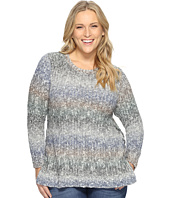 Lucky Brand - Plus Size Ombre Lace-Up Pullover
