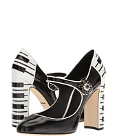Dolce & Gabbana - Leather Mary Jane Pump w/ Piano Heel