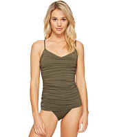 Vince Camuto - Fiji Solids Shirred Swimdress One-Piece