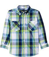 Tommy Hilfiger Kids - Basil Plaid Long Sleeve Shirt (Big Kids)
