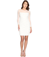 Adrianna Papell - Shutter Tuck Lace Sheath Dress