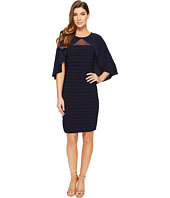 Adrianna Papell - Matte Jersey Banded Cape Dress