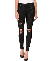 7 For All Mankind - The Ankle Skinny w/ Destroy in Coated Fashion 2