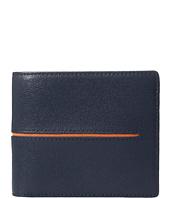 BUGATCHI - Saffiano Two-Tone Wallet