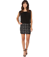Aidan Mattox - Stretch Lace Beaded Skirt w/ Blouson Top