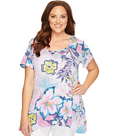 Extra Fresh by Fresh Produce - Plus Size Cabana Bright Twin Peaks Top