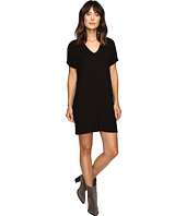 Lilla P - Stretch Jersey Short Sleeve V-Neck Dress