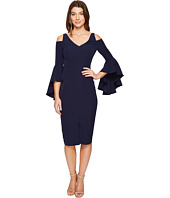 Maggy London - Cold Shoulder Sheath Dress with Ruffle Sleeve