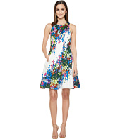 Maggy London - Shadow Garden Flower Cotton Fit and Flare Dress