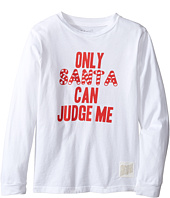The Original Retro Brand Kids - Only Santa Can Judge Me Vintage Cotton Long Sleeve Tee (Little Kids/Big Kids)