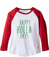 The Original Retro Brand Kids - Happy Holla Days Long Sleeve Raglan (Toddler)