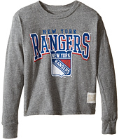 The Original Retro Brand Kids - Long Sleeve Tri-Blend New York Rangers NHL Tee (Big Kids)