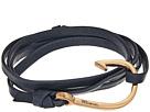 Rose Gold Hook on Leather Bracelet