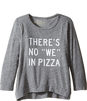 The Original Retro Brand Kids - There's No We In Pizza Tri-Blend Pullover (Big Kids)