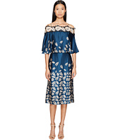 YIGAL AZROUËL - Leaf Embroidered Printed Cold Shoulder Dress