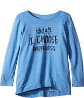 The Original Retro Brand Kids - Today I Choose Happiness Tri-Blend Pullover (Big Kids)