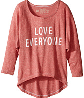 The Original Retro Brand Kids - Love Everyone 3/4 Dolman Tee (Big Kids)