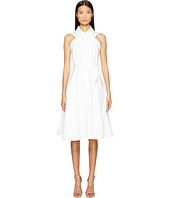 Zac Posen - Bonded Cotton Sleeveless Shirtdress