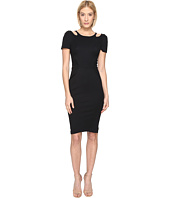 Zac Posen - Bondage Cut Out Jersey Short Sleeve Dress