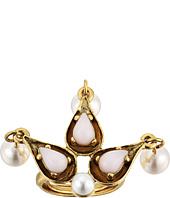 Oscar de la Renta - Cabochon Pearl Stone and Pearl Ring