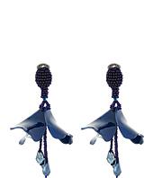 Oscar de la Renta - Small Impatiens Flower Drop C Earrings