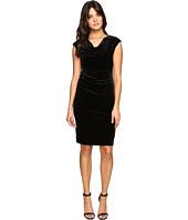 Calvin Klein - Cowl Neck Velvet Dress