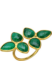 Dee Berkley - Gemstone Flower Ring Dyed Emerald