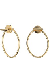 Dee Berkley - 14KT Yellow Gold Oval Front/Back Earrings