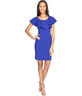 Tahari by ASL - Ruffle Bodice Crepe Sheath Dress