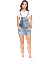 Blank NYC - Denim Color Block Overalls in Whambulance