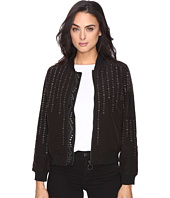 Blank NYC - Eyelet Studded Bomber Jacket in Eyelet You