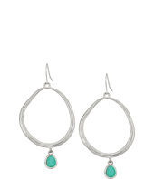 The Sak - Stone Drop Hoop Earrings