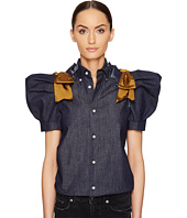 DSQUARED2 - Dark Wash Puff Short Sleeves Denim Shirt