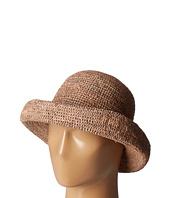 San Diego Hat Company - RHM6005 Crochet Raffia Pinched Crown Fedora Hat