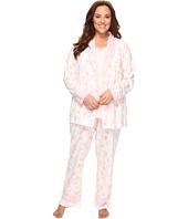 Carole Hochman - Plus Size Knit Jersey Three-Piece PJ