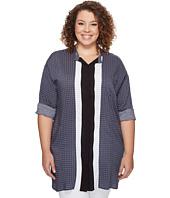DKNY - Plus Size Long Sleeve Boyfriend Shirt