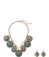 M&F Western - Dangle Disc Necklace/Earrings Set