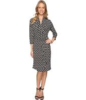 Karen Kane - 3/4 Sleeve Cascade Wrap Dress